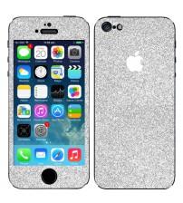 Skin fashion GLITTER pentru iPhone 5 / 5S - Silver