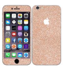 Skin fashion GLITTER pentru iPhone 6 / 6S - Gold