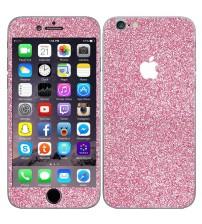 Skin fashion GLITTER pentru iPhone 6 / 6S - Pink