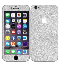Skin fashion GLITTER pentru iPhone 6 / 6S - Silver