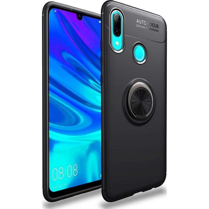 Husa Huawei P Smart 2019 Magnet Round Ring, Black - TemperedGlass.ro