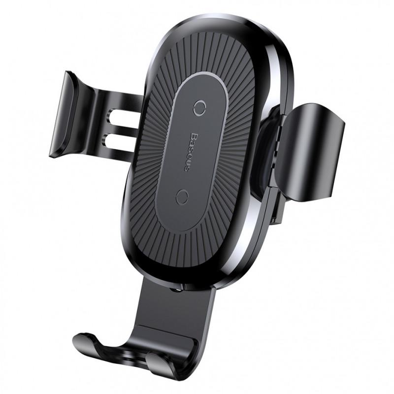 Suport auto cu incarcare wireless Baseus Gravity Air Vent, Black