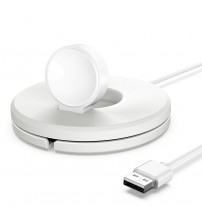 Suport cu incarcare wireless pentru ceasuri Samsung, Alb