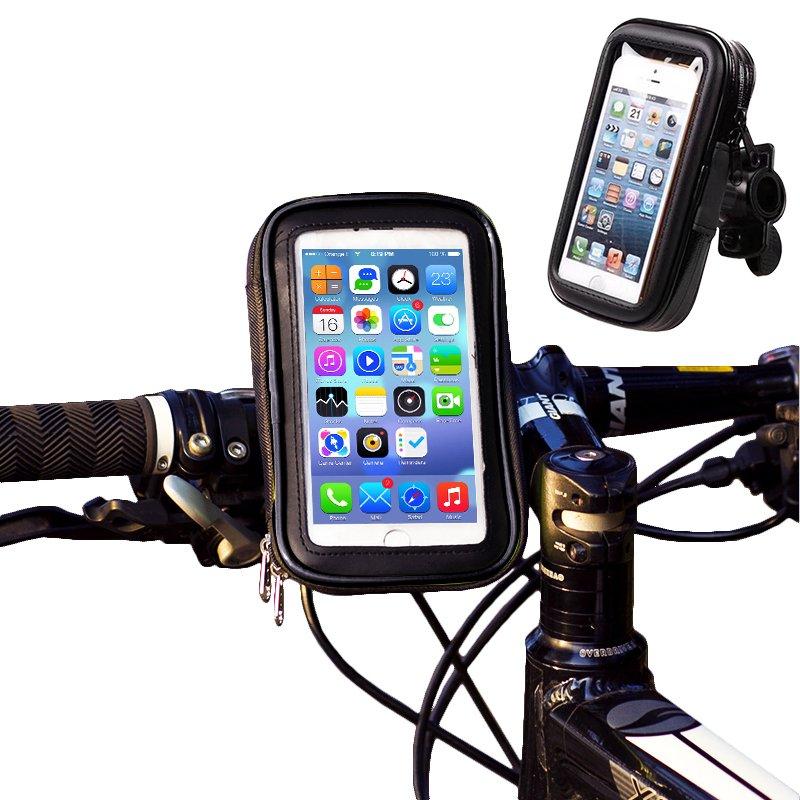 Suport impermeabil telefon pentru biciclete / trotinete, Negru