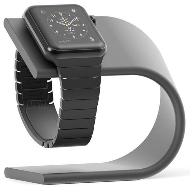 Suport incarcare Aluminium pentru Apple Watch, Dark Grey