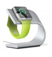Suport incarcare Aluminium pentru Apple Watch, Silver